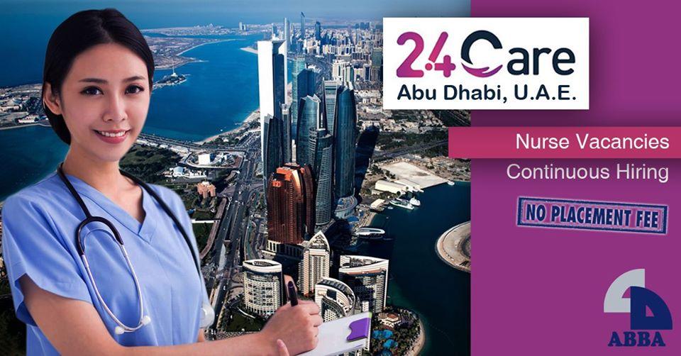 24 Care Hub Center in Abu Dhabi hiring nurses, salary at P61,300