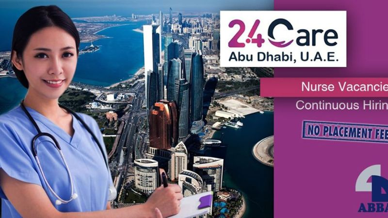 24 Care Hub Center in Abu Dhabi hiring nurses, salary at P61,300