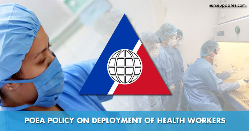 POEA amends policy on deployment of health workers