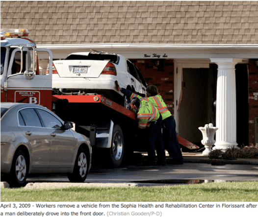 Car Crashed  Into St. Louis Nursing Home