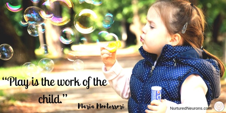 """quotes about play - """"Play is the work of the child"""" ~ Maria Montessori"""