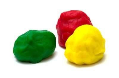 Kids can count the playdough balls