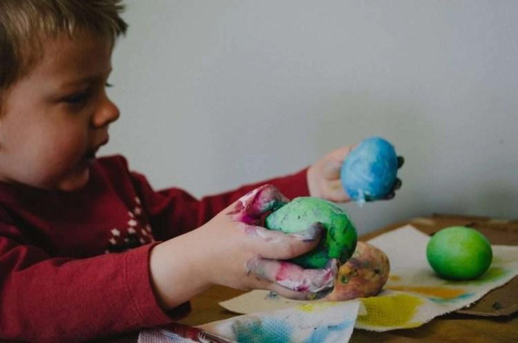 Play dough is fantastic for sensory development