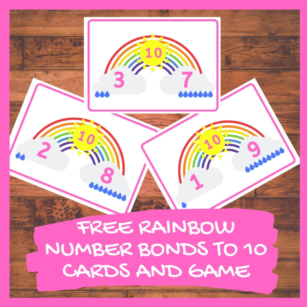 Rainbow Number Bonds To Ten Cards And Game
