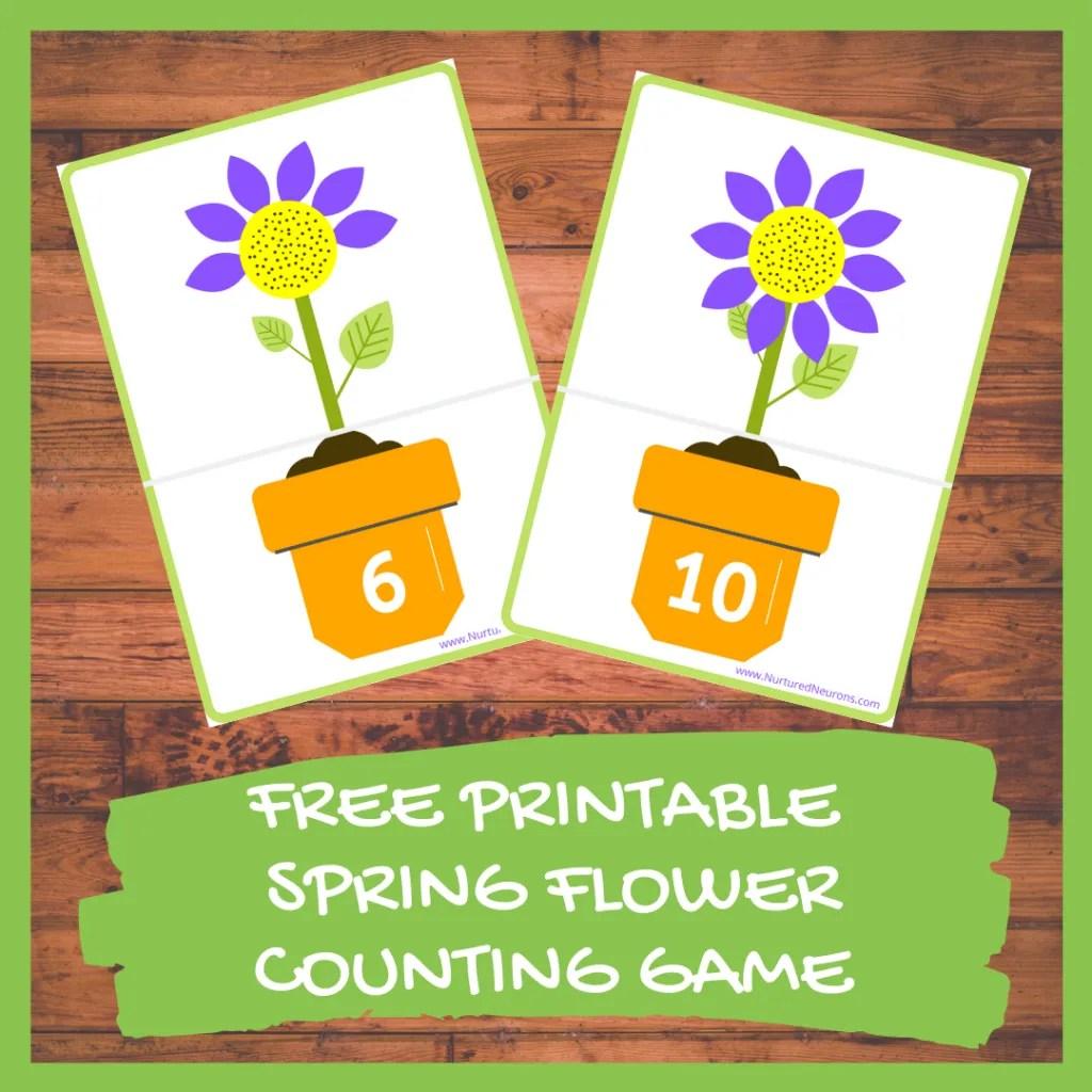 Spring Math Game Free Printable