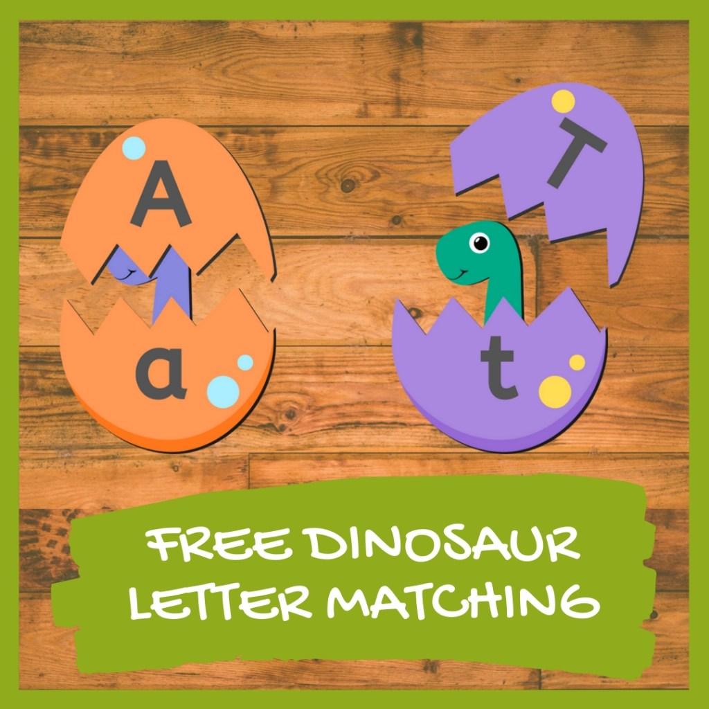Dinosaur Letter Matching Game Free Printable