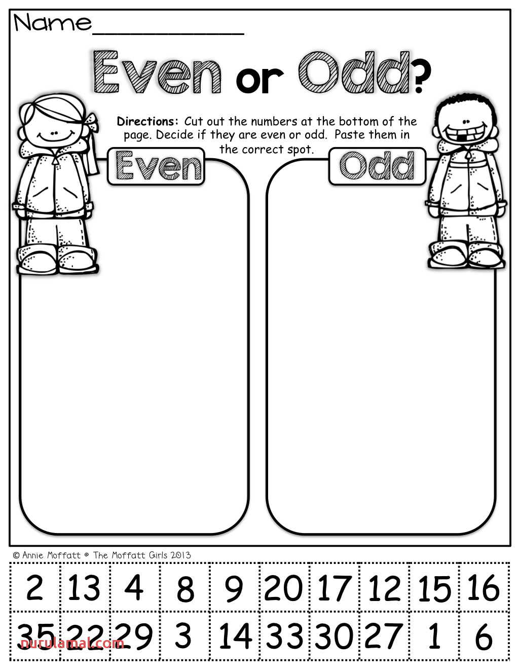 Odd And Even Worksheet For Kids