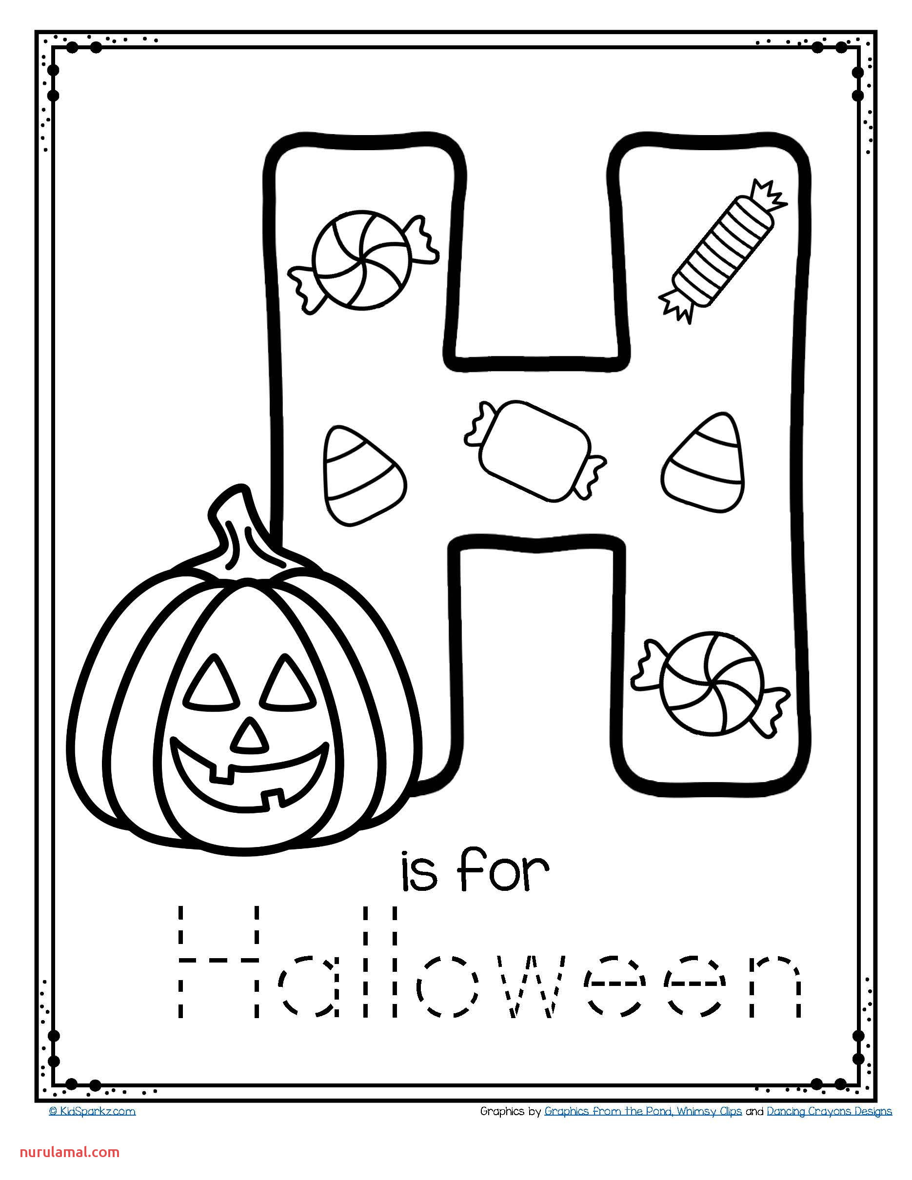 Fall Trace Worksheet For Kids