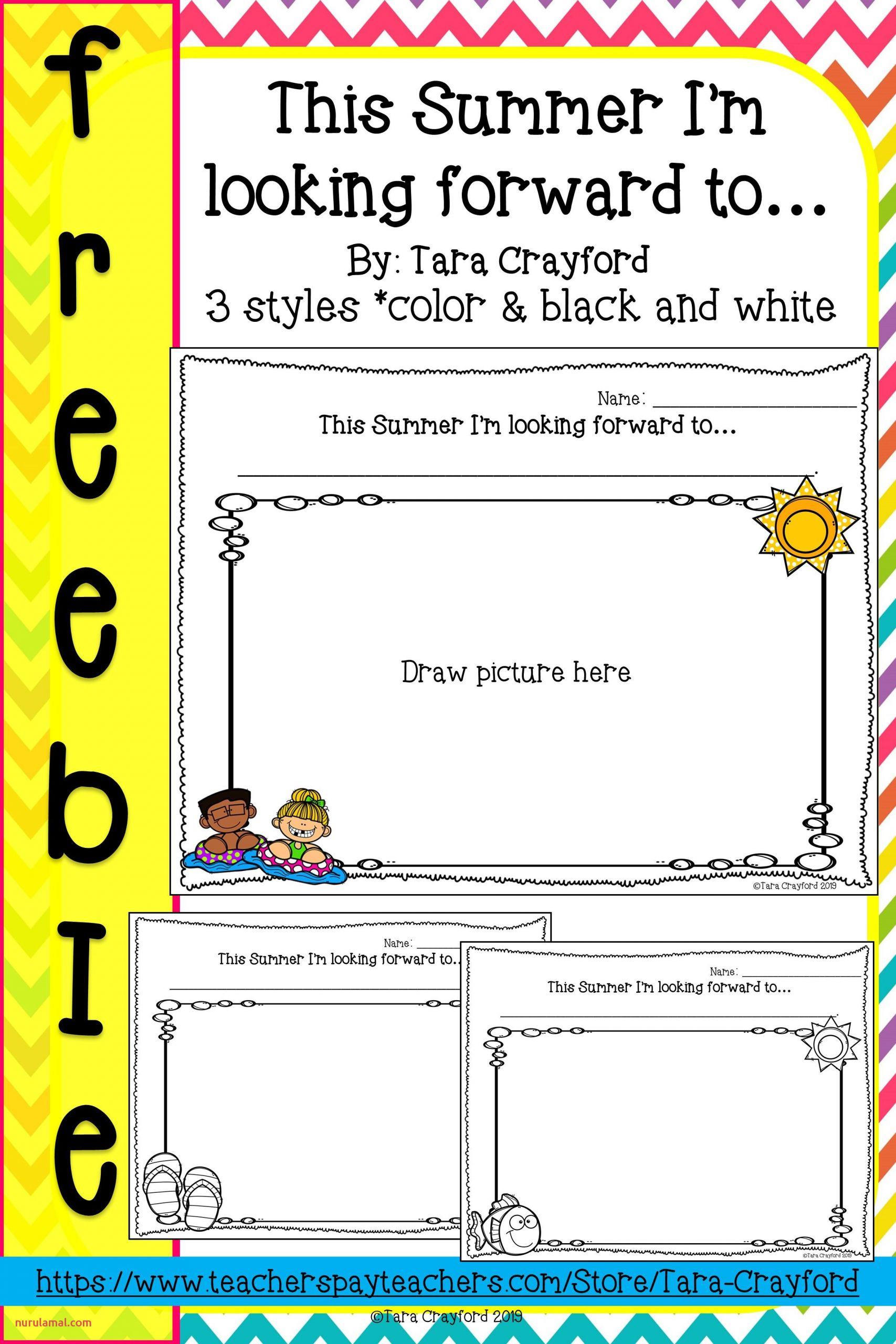 4 Year Old Worksheets Printable Tracing Summer
