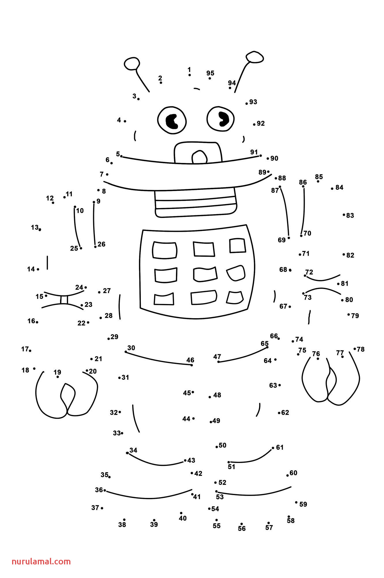 Dot To Dot Worksheet For Kids