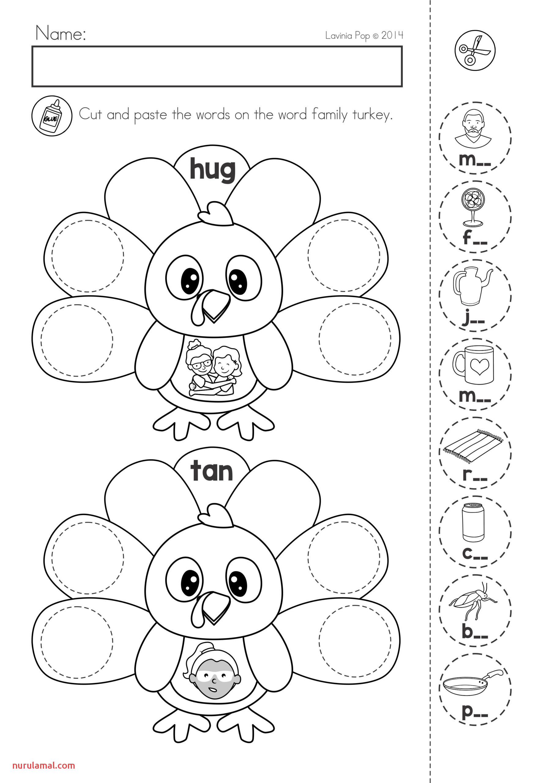 Letter W Coloring Worksheet Printable Nurul Amal