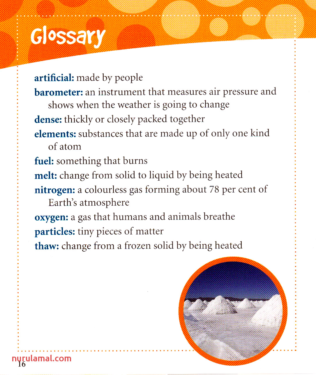 Worksheets Glossary 2