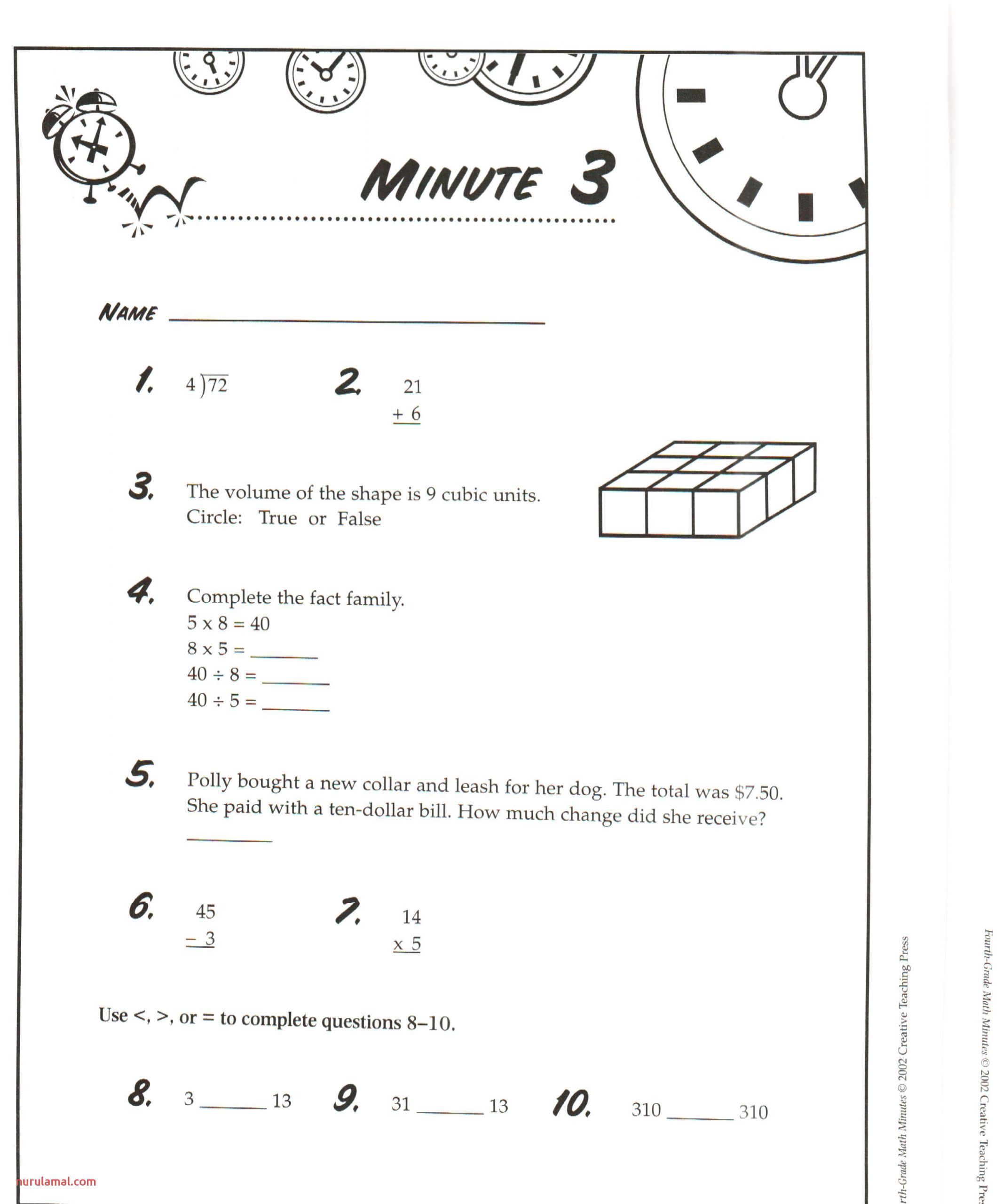 Mad Minute Math