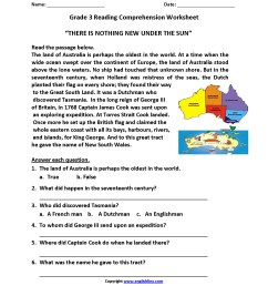 Reading Worksheets 5th   Printable Worksheets and Activities for Teachers [ 2200 x 1700 Pixel ]