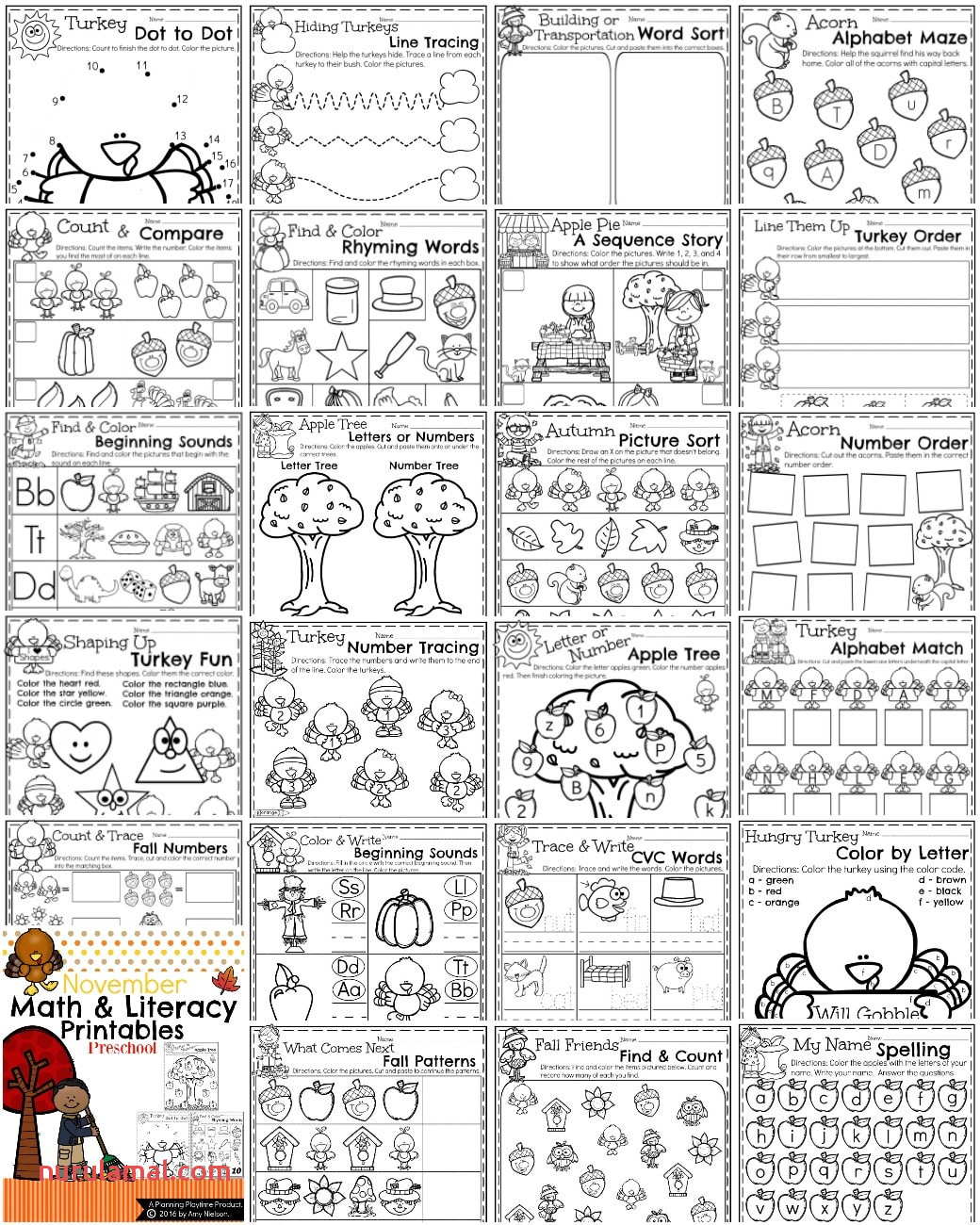 Spring Maze Worksheet Printable