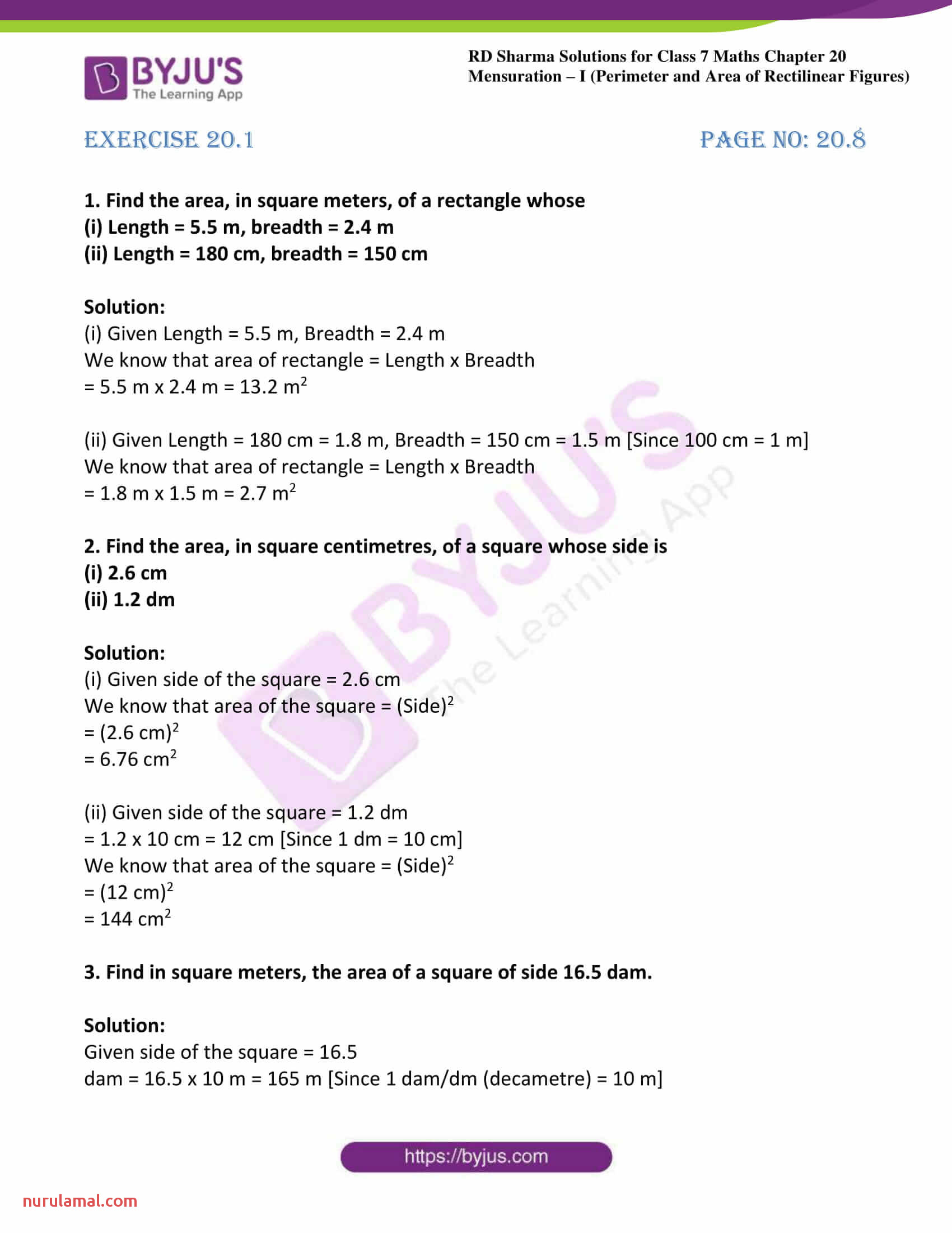 hight resolution of Perimeter And Area Worksheets For Grade 7   Printable Worksheets and  Activities for Teachers