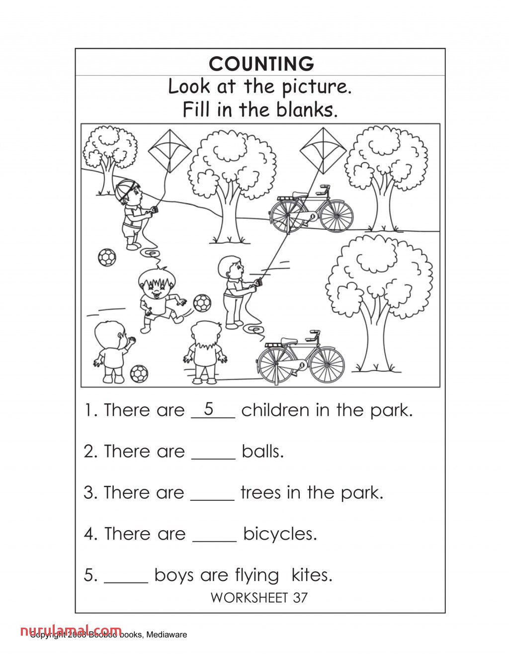 Printable Counting Worksheet Printout