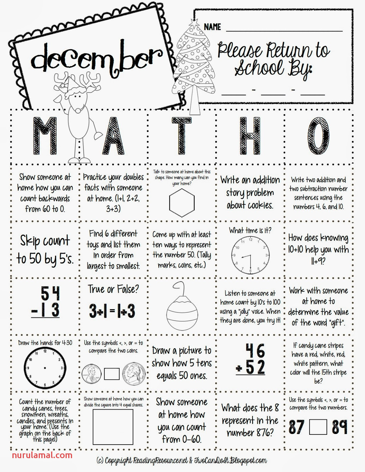 Maths For 7 Year Olds Worksheets Mental