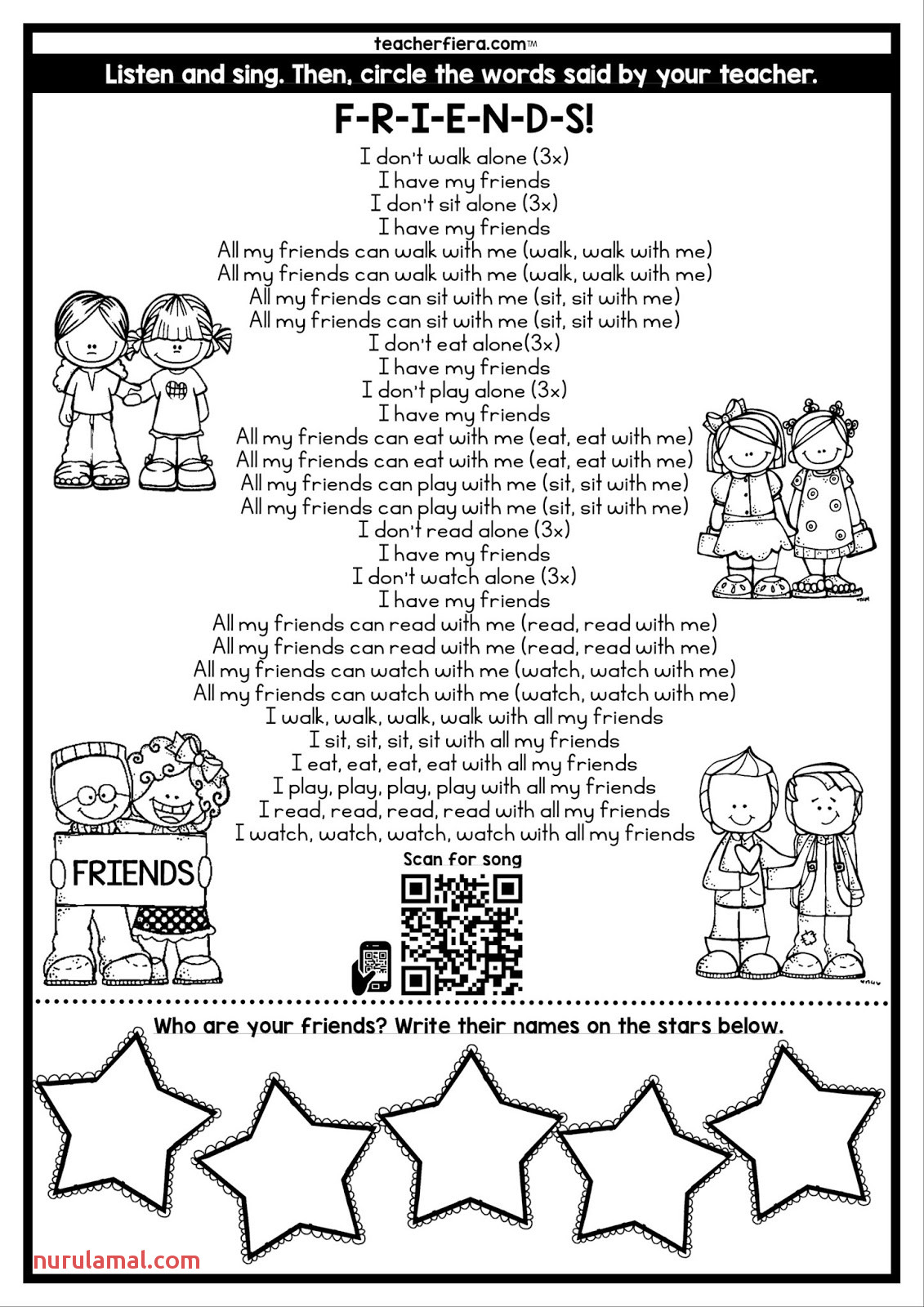 Kindergarten Counting Math Worksheet Online