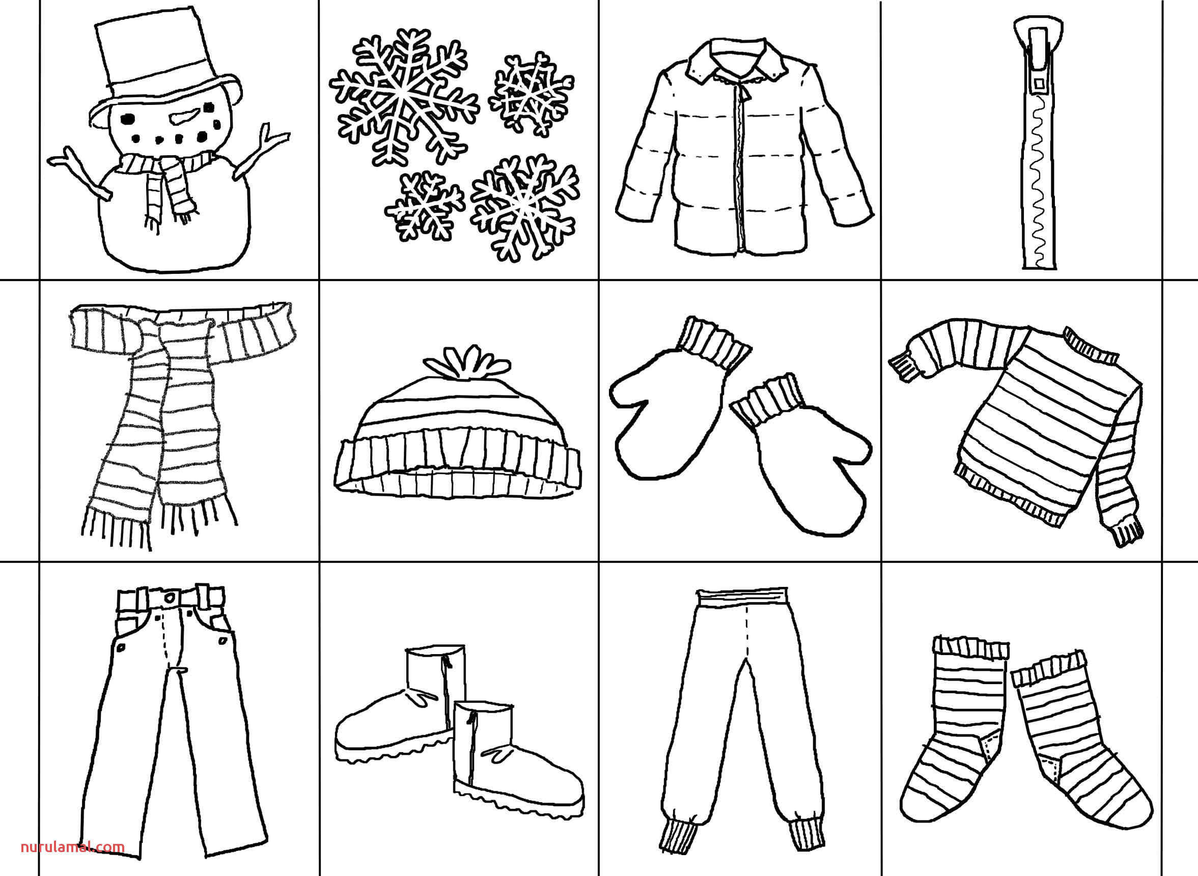 Winter Clothes Preschool Worksheets
