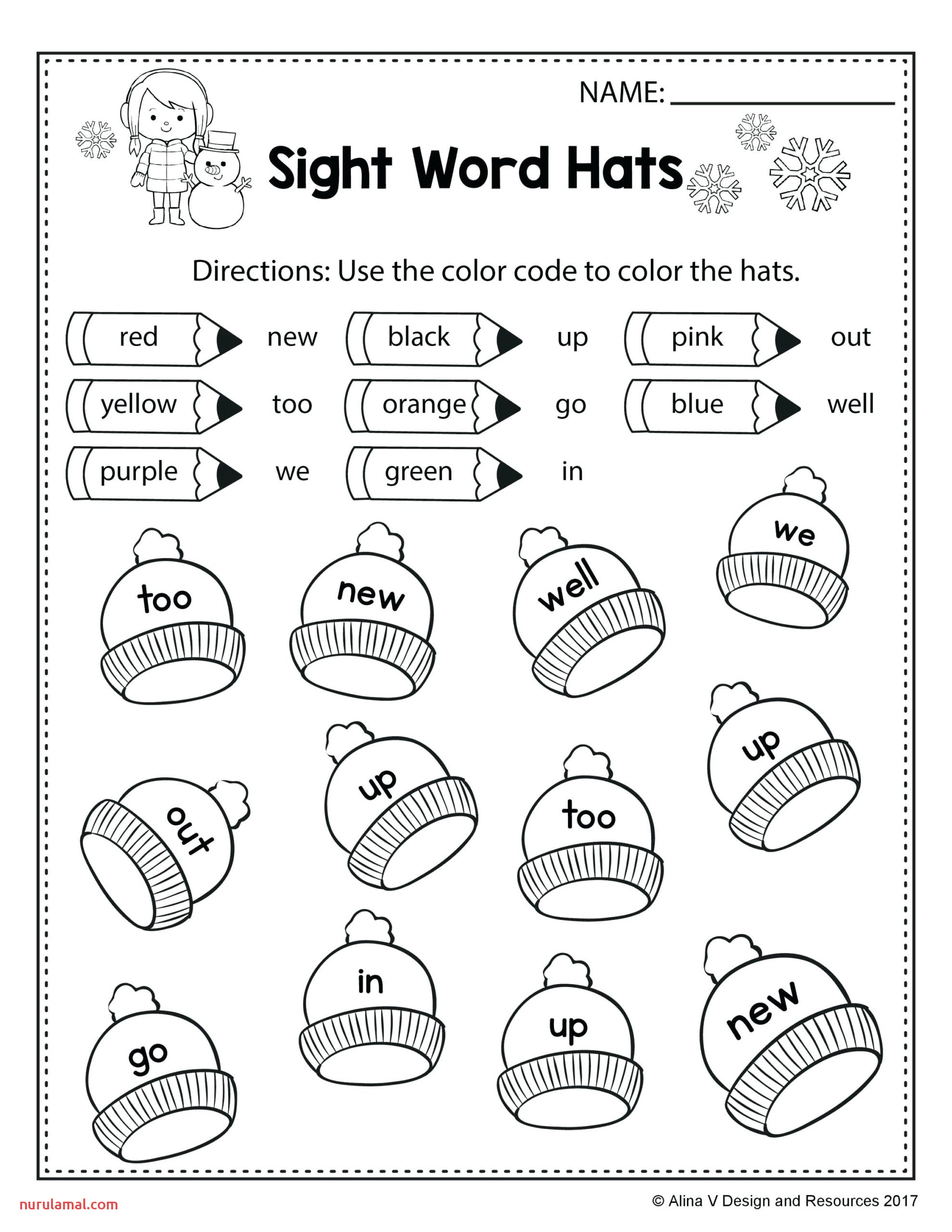 Winter Math Worksheet Printable