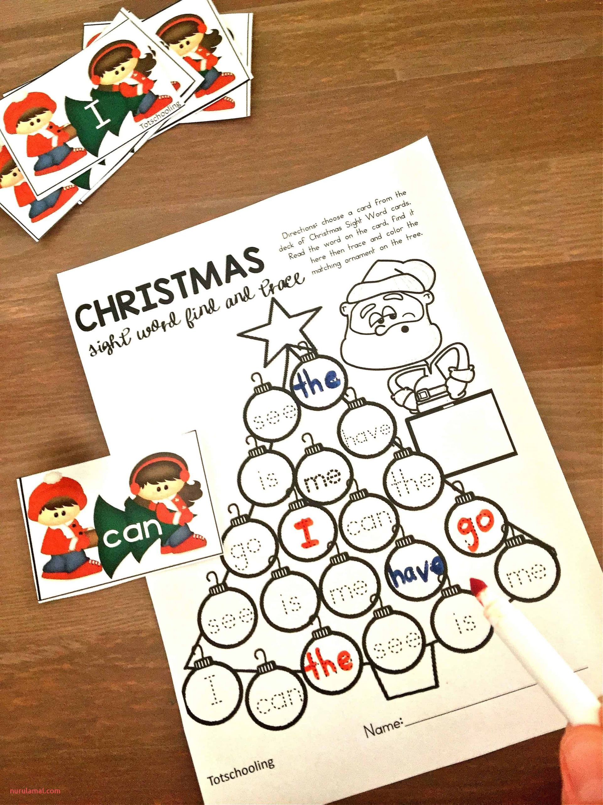 Preschool Worksheets Christmas Tree