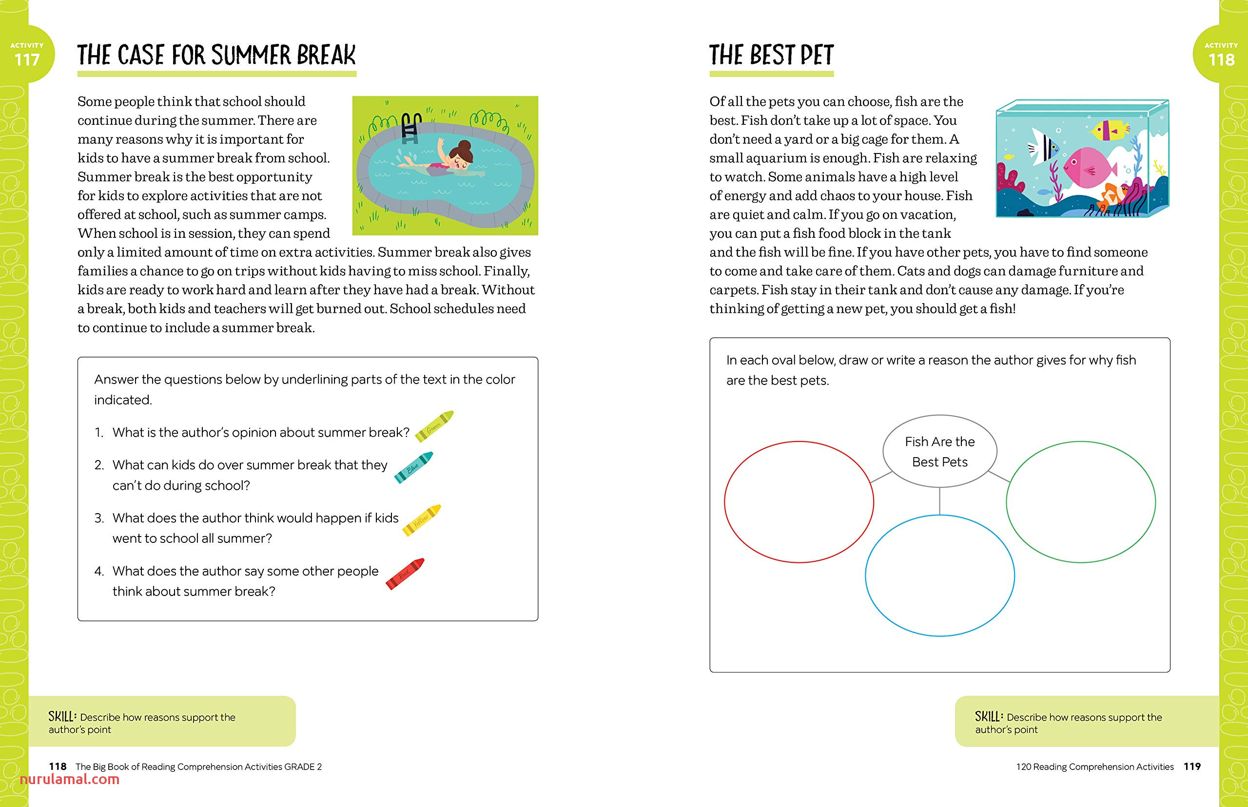 Summer Story Sequencing Printable Worksheets
