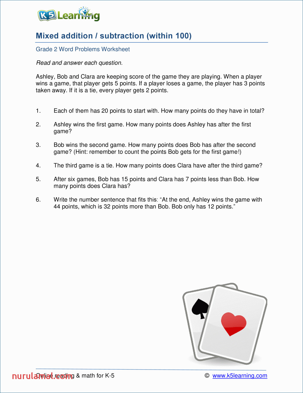 2nd Grade Math Word Problems Worksheets