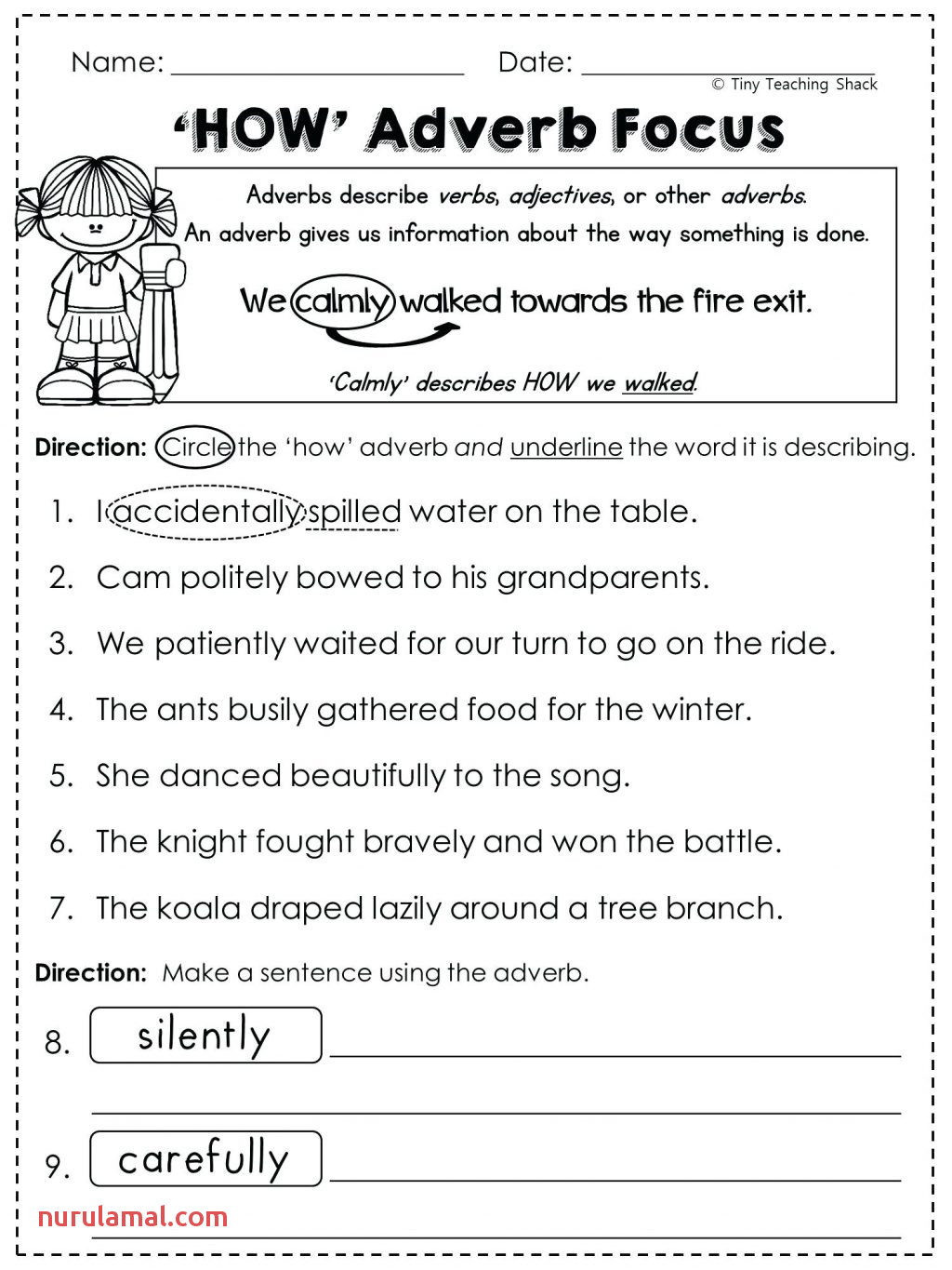 Adjective Worksheets For Kindergarten