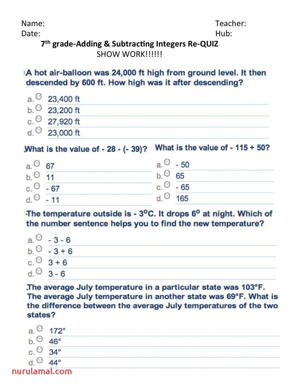 Math Worksheets Dividing Fractions