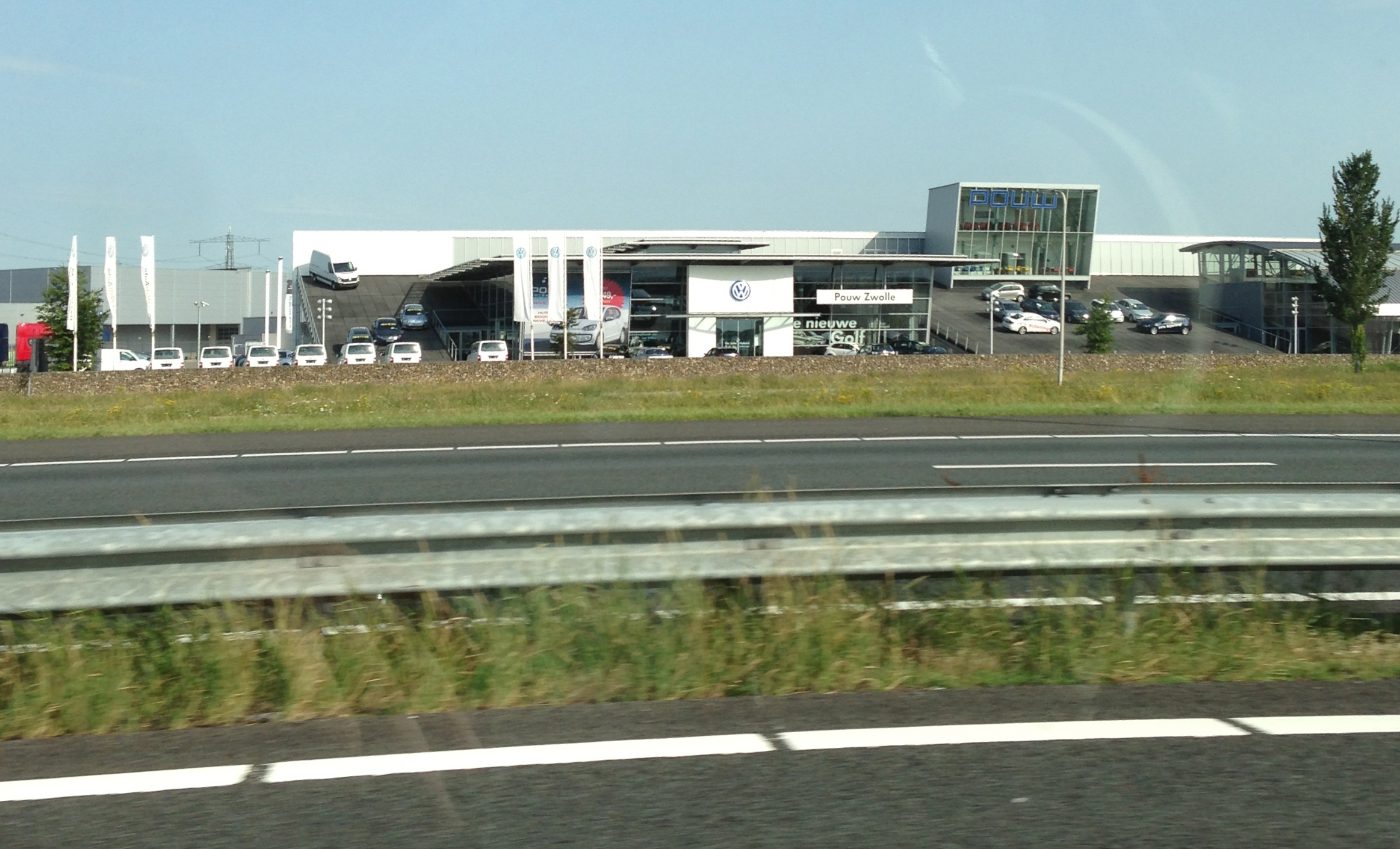 showrooms alongside the highway