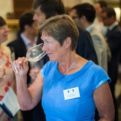 Bridget Gladwin tasting wine