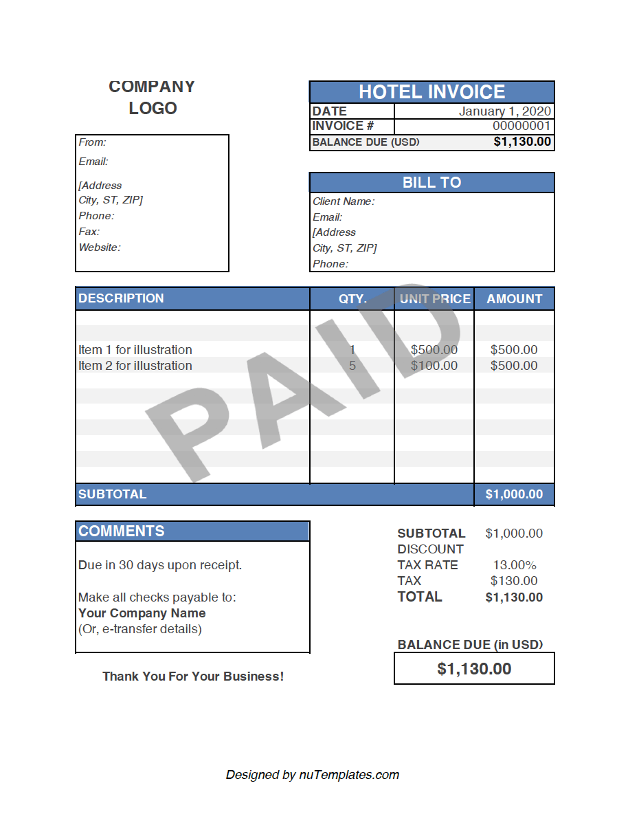 Fake Airbnb Receipt Template Airbnb Receipts Nutemplates