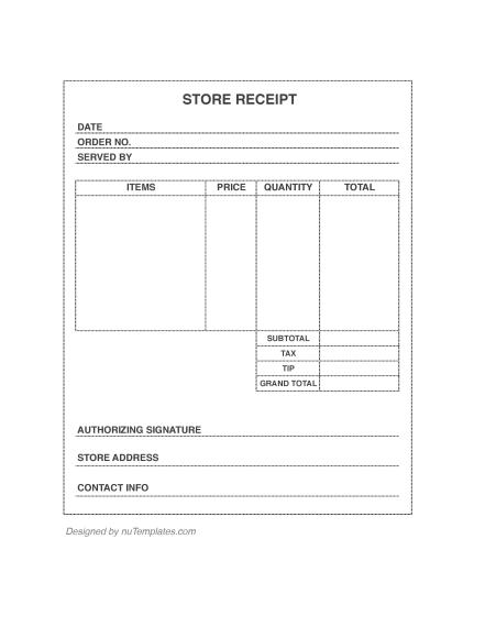 store receipt template store receipts nutemplates