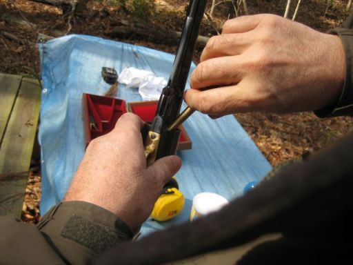 filling the cylinder