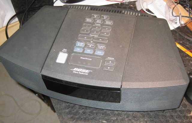 a quick repair of a Bose Wave Radio/CD