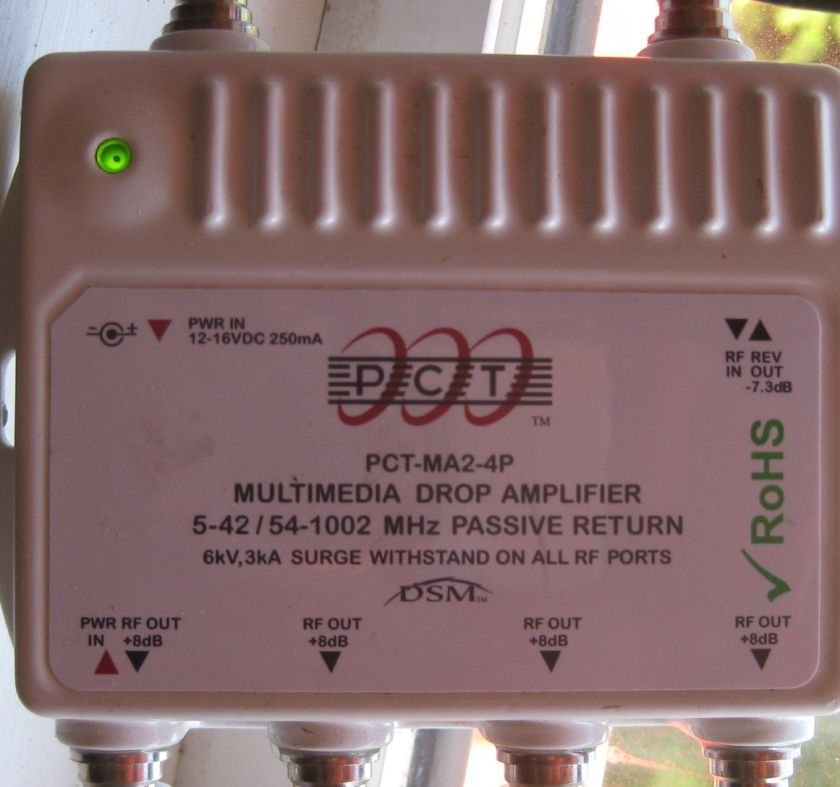 signal amplifier, you can see it enhances the signal by 8dB