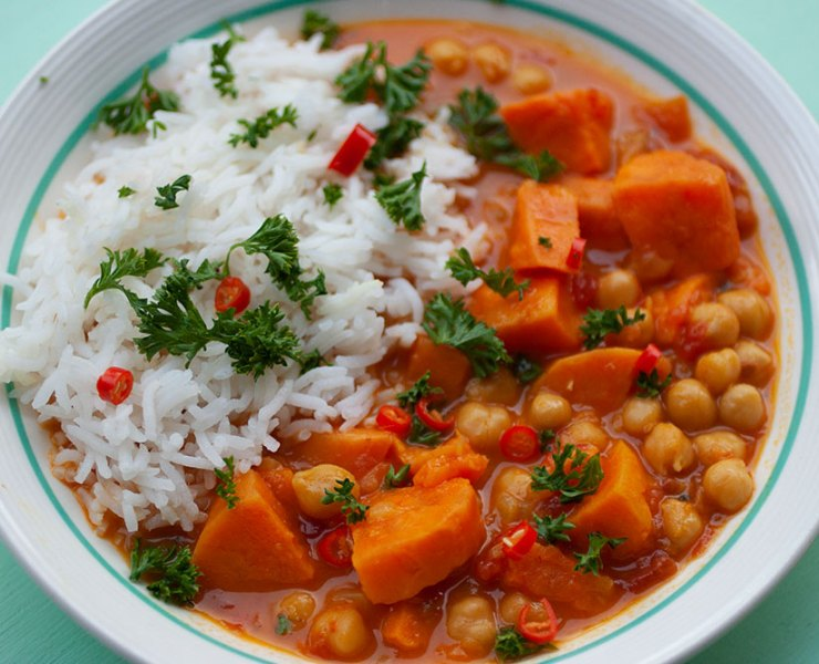 Instant Pot Chickpea and Sweet Potato Curry