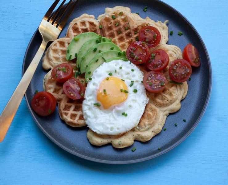 Savoury Chickpea Waffles