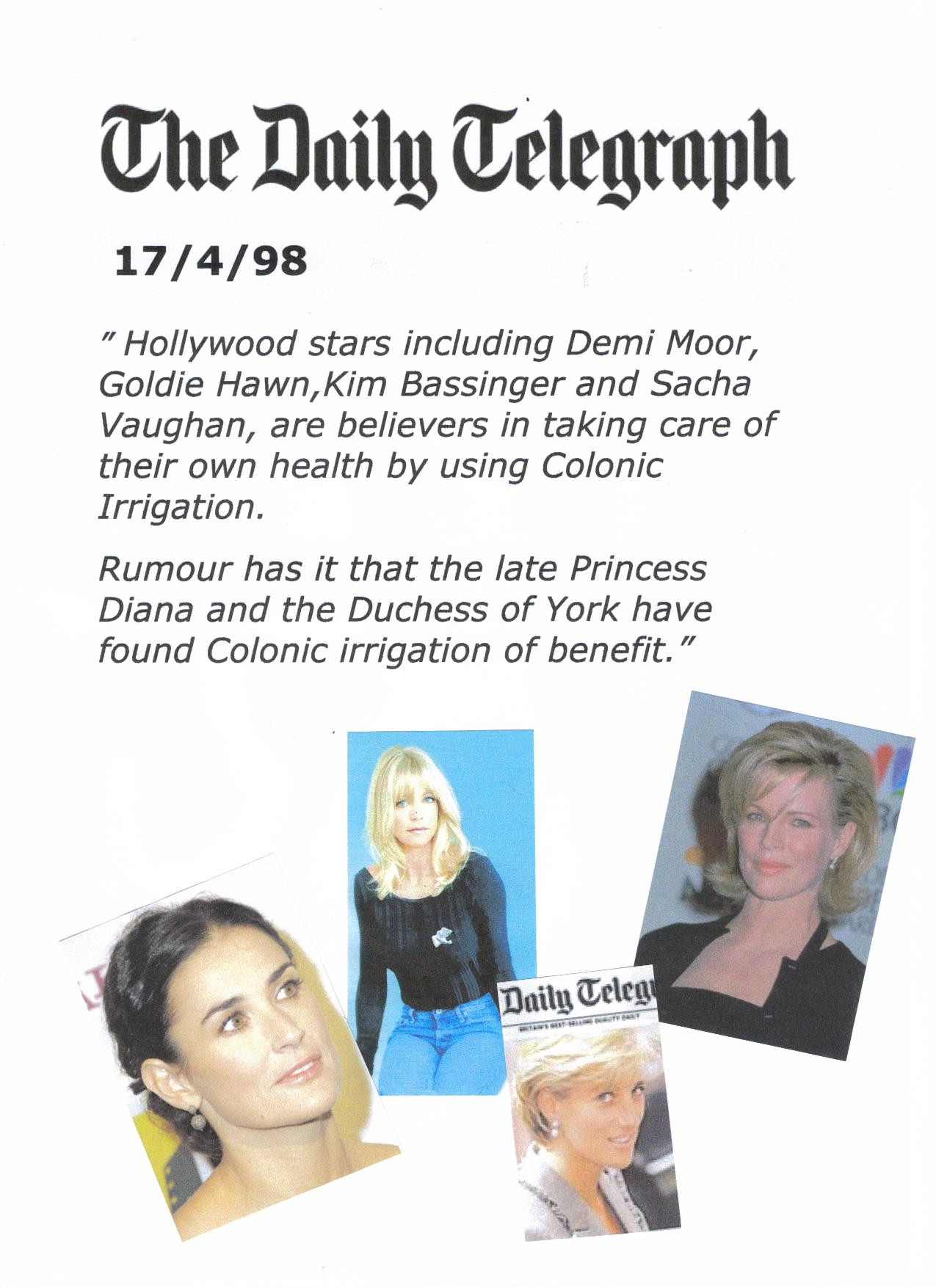 Celebrities & colonic irrigation.