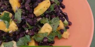 salada de feijão preto