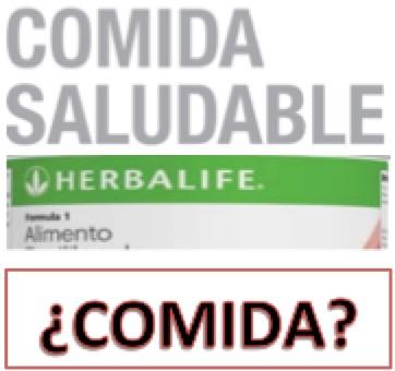 …y dale con «Herbalife». NO es comida
