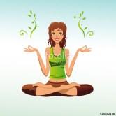 femme zen lotus