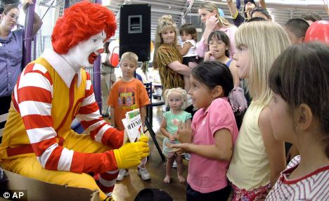 ronald mcdonald with small kids