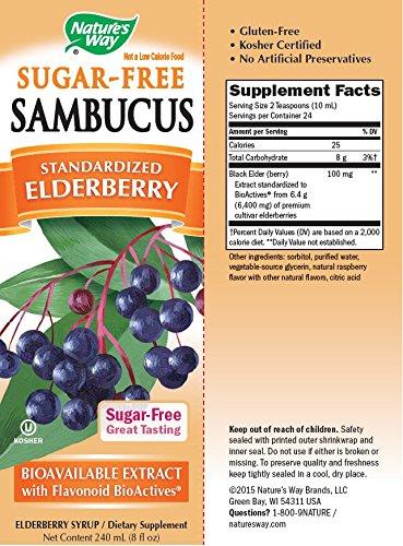 Jarabe de Sambucus para la inmunidad sin Azúcar marca ...