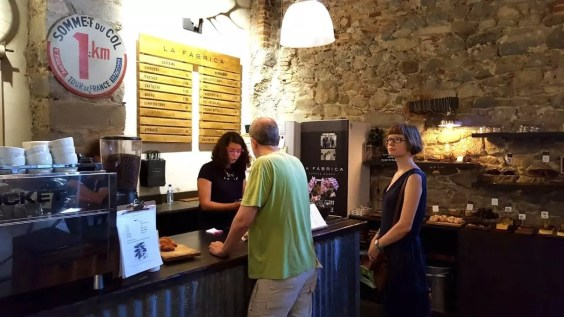 La Fabrica specialty coffee shop in Girona
