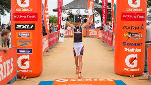 gatorade triathlete finish