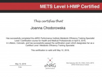 METS Level 1 Cert_JC