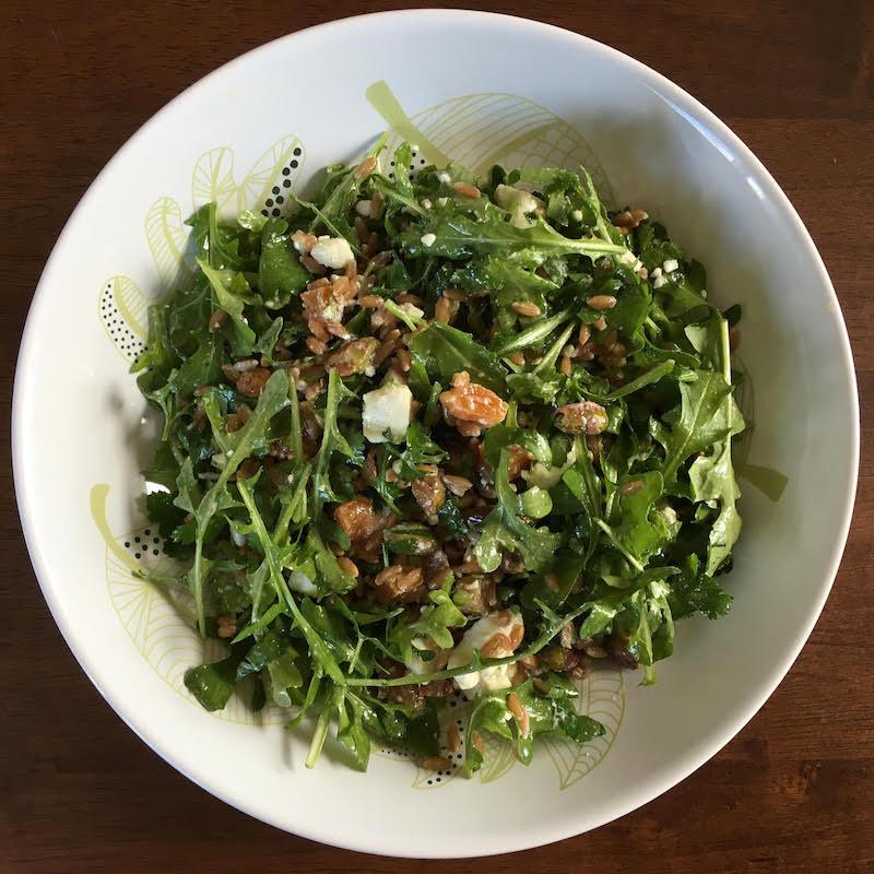 Recipe Farro Arugula Salad Pistachios