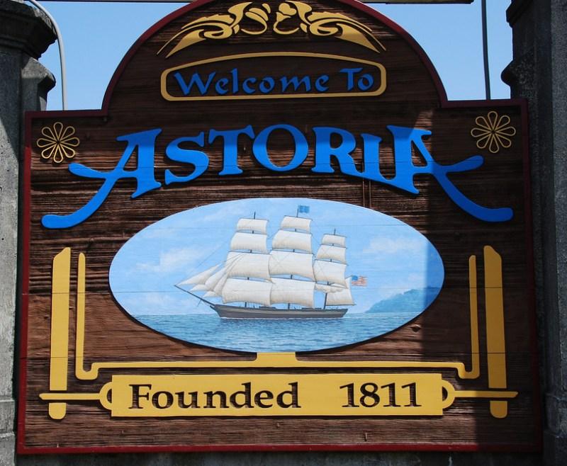 Astoria Oregon Sign